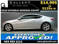 2010 HYUNDAI GENESIS 2.0T **EVERYONE APPROVED** $0 DOWN $119/BW!