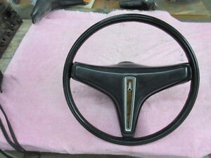 1973 CHARGER STEERING WHEEL, BLACK, EXCELLANT, ORIGINAL