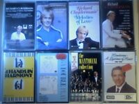 CSL PIANO ORCHESTRAL. CLAYDERMAN, WAYNE & GERALDI, CONWAY SATIE MANTOVANI PRERECORDED CASSETTE TAPES