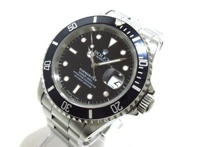 Auth ROLEX Submariner Date 16610 Silver, Black X774687 Men's Wrist watch