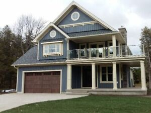 New Home with View of Lake Huron in Southampton. Open House Sat.