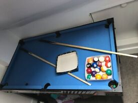 Pool Table - Hy-Pro 4 in 1 Games - Hardly used - RRP £99