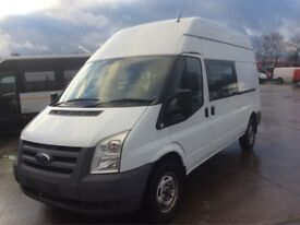2010 , Ford , Transit , 9 seater crew van , long wheel base , high top , 2400cc ,