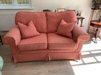 John Lewis 2-seater rose coloured sofa