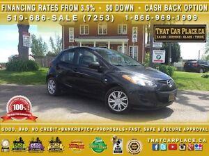 2014 Mazda Mazda2 GX-$45/Wk-AUX/CD/MP3-LOW KM-FUEL EFFICIENT-SAV