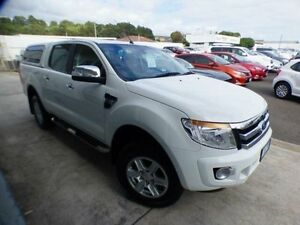 2014 Ford Ranger PX XLT 3.2 (4x4) White 6 Speed Automatic Dual Cab Utility Devonport Devonport Area Preview