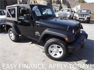 2018 Jeep Wrangler JK Sport 4X4! 2 DOOR! SOFT TOP! CRUISE!