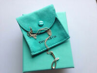 "Tiffany & Co Elsa Peretti Letter ""J"" Pendant and Chain"