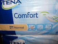 2 x Packs TENA 'Comfort' Normal Pads 42's, for Ladies and Men