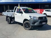 2015 Toyota Hilux GUN125R Workmate White 6 Speed Manual Cab Chassis Bungalow Cairns City Preview