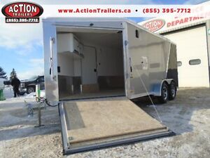 SNOWMOBILE TRAILER SPECIAL - DRIVE IN/OUT -LOTS OF FREE UPGRADES London Ontario image 1