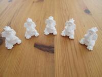 Pottery dragons,(mini), ready to paint.