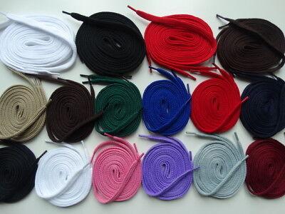 Laces Strong Flat 105cm or 140cm 12 colours Canvas Trainers Skate Shoes Vans
