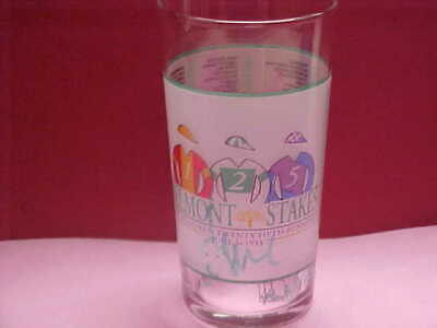 1993 Belmont Stakes Signature Series Glass.Julie Krone.Jockey Guild.Mint - Signature Series Glass
