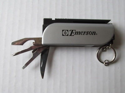 Emerson Tool (EMERSON  7-in-1 Multi-Tool Key Ring - With Flashlight, Screwdriver, Knife)