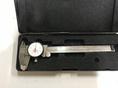 Servcdcalibrtd Starrett 120a-6 Dial Calipers 6 Usa-made Cals
