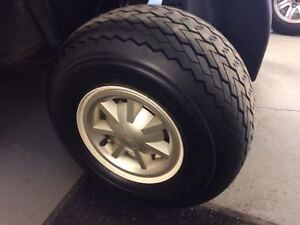 Used Golf Cart Tires, Hub Caps and Rims - $100 for 4