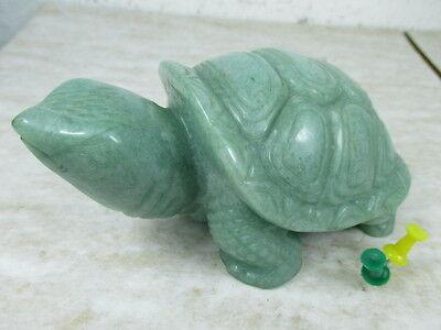 ldkröte Edelstein wie Jade Turtle hochwertig Handarbeit 13cm (Stein-schildkröte)