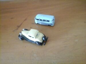 Budgie Volkswagon  Micro Bus Toy 1960's & Ertl  Ford Coupe