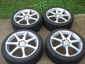 "Motegi MR7  18x8"" 5x100/114.3mm.nice Continentals too"