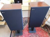 Rare Celestion Ditton 300 Speakers Refurbished with Target Audio stands