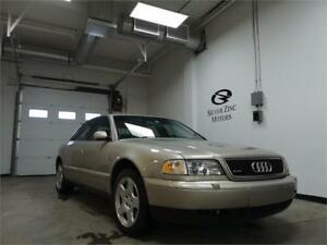 1998 Audi A8 4.2L Quattro AWD *Low Low Kms!! *Sunroof *Leather