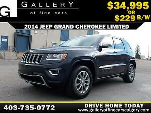 2014 Jeep Grand Cherokee Limited 4x4 $229 bi-weekly APPLY NOW