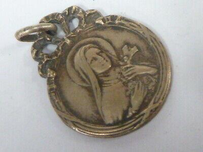 Medal Religious Virgin - IN Silver Metal