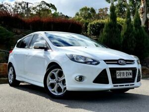 2013 Ford Focus LW MkII Sport PwrShift White 6 Speed Sports Automatic Dual Clutch Hatchback Littlehampton Mount Barker Area Preview