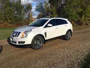 2014 AWD Cadillac SRX Premium, White, Titanium interior