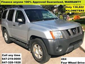 2005 Nissan Xterra Off-Road 4WD 138,822km FINANCE 100% APPROVED