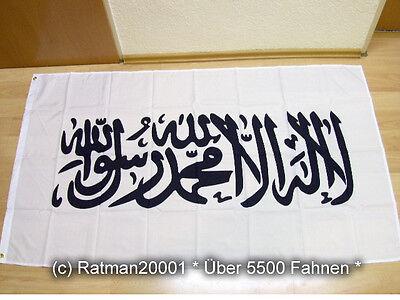 Fahnen Flagge Kalifat Shahada Islam Weiß - 90 x 150 cm