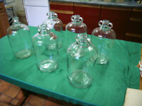 6 Glass Demijohns (Very Good Condition)