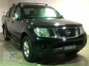 2013 Nissan Navara D40 S5 MY12 ST-X Black Sports Automatic Utility Campbelltown Campbelltown Area Preview