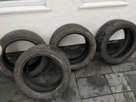 4 x Dunlop SP Winter Sport M3 245/45/18 RunFlat Tyres