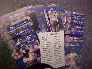 1992 BASEBALL TORONTO BLUE JAYS WORLD SERIES CHAMPS Complete Set London Ontario image 1
