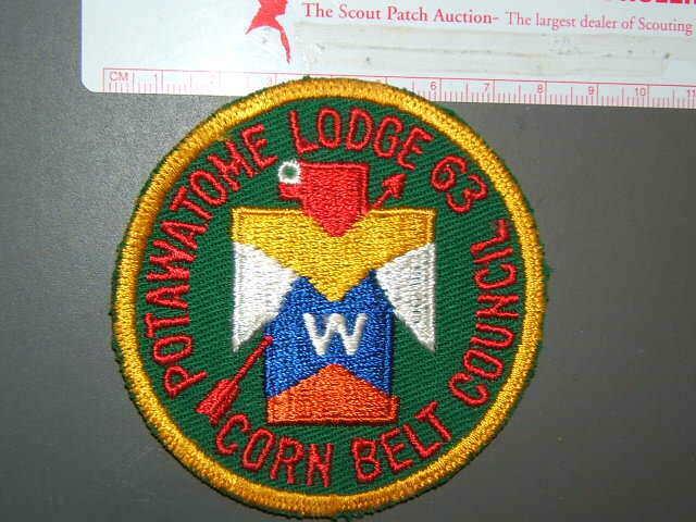 Boy Scout OA 63 Potawatome round 7199R