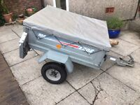 Daxara 127 an unbraked 4' x 3' single axled trailer