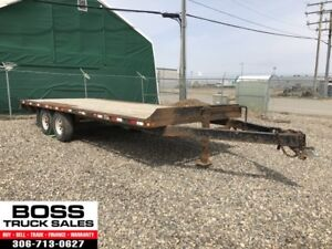 2010 Flat Deck Trailer!! 20ft!! Ramps!! On Sale!!