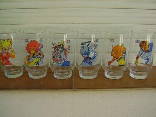 THUNDERCATS PEPSI COLA GLASS SET COMPLETE ARGENTINA (SOUTH AMERICA) 1987 RARE