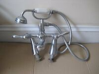 Chrome Victorian Style Bath Mixer Taps