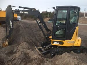 PRICE DROP 2015 JOHN DEERE 35G EXCAVATOR ** COMES WITH AUGER **