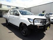 2015 Toyota Hilux GUN126R SR Double Cab White 6 Speed Sports Automatic Cab Chassis West Ballina Ballina Area Preview