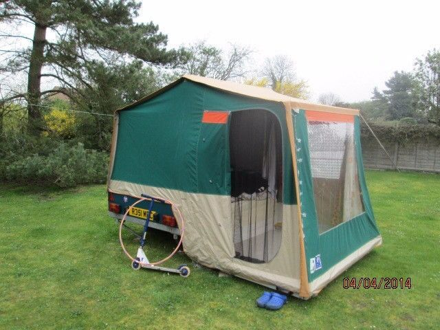 2009 Raclet Solena Folding Camperin Egham, SurreyGumtree - 2009 Raclet Solena. Main unit awning bedroom annex and sun canopy. Ground sheets, gas stove gas bottle. Cold box and transformer all included. Electric hook up electric extension leads may more accessories. has been garaged for two years until...