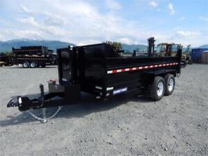 NEW 2018 7x14 TELESCOPIC HOIST DUMP TRAILER