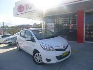 2012 Toyota Yaris NCP131R YRS Glacier White 4 Speed Automatic Hatchback Allawah Kogarah Area Preview