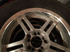Goodyear snow tires 225/60/16 ---- 225 60 16 with universal rims London Ontario image 2