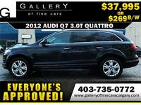 2012 Audi Q7 3.0T QUATTRO $269 bi-weekly APPLY NOW DRIVE NOW