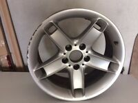 "BMW 5 Spoke 17"" alloy wheel from % series, slightly marked, can deliver"