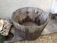 Half Barrel Planter / Tub / Flower pot.